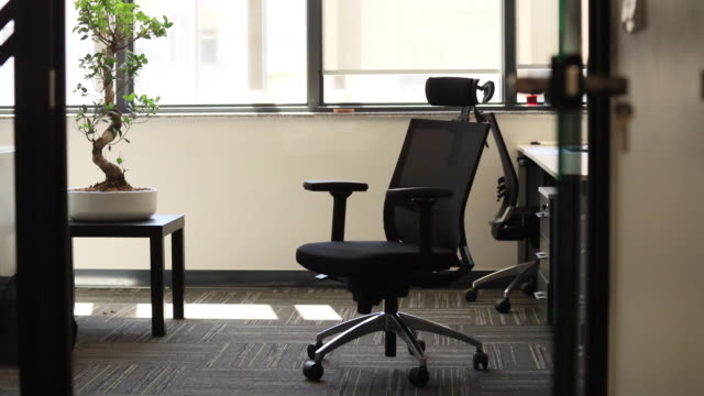 modern office chair - chair stock videos & royalty-free footage