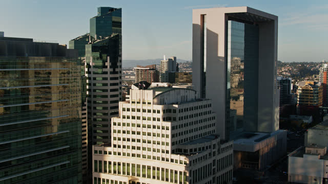 modern office towers in downtown san diego - san diego stock videos & royalty-free footage
