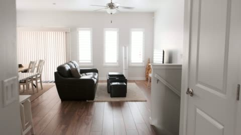 modern open concept home interior - barren stock videos & royalty-free footage