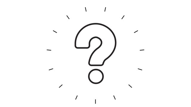 modern question mark line icon animation on white background - question mark stock videos & royalty-free footage