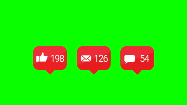 4k modern red like pink icon animation. green screen. - speech bubble stock videos & royalty-free footage