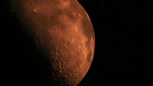 modern red moon - space exploration stock videos & royalty-free footage