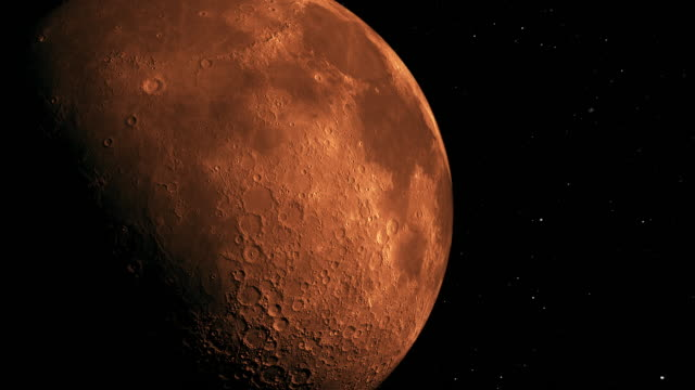 modern red moon - meteor crater stock videos & royalty-free footage