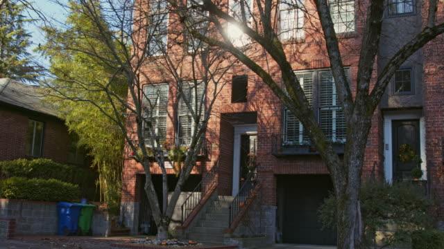 a modern residential building in portland, oregon - portland oregon fall stock videos & royalty-free footage