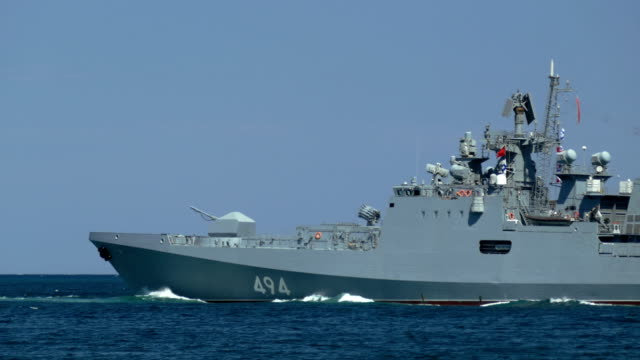 modern russian missile frigate - battleship stock videos & royalty-free footage