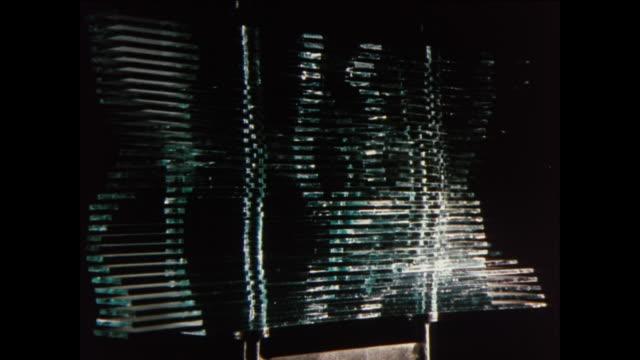 CU Modern sculpture made of metal and glass / UK