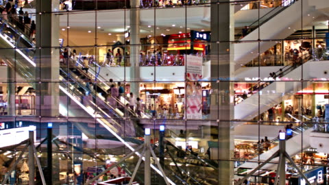modern shopping mall - large stock videos & royalty-free footage