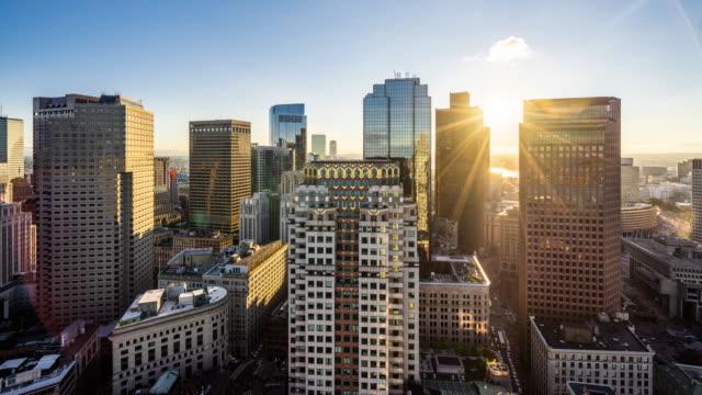 vídeos de stock, filmes e b-roll de t/l ws ha modern skyscrapers in boston / boston, usa - câmara parada
