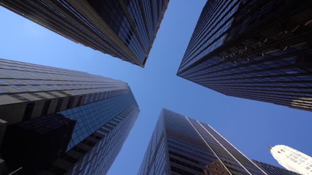 vídeos de stock e filmes b-roll de ws la modern skyscrapers in lower manhattan / new york city, usa - plano de ambientação