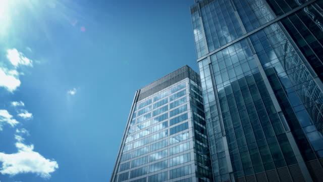 Modern skyscrapers timelapse video