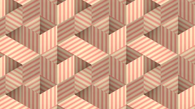 モダンなストライプグラフィックの背景。抽象的なファッションデジタルシームレスなループパターン。3d レンダリング。hd解像度 - 投影図点の映像素材/bロール
