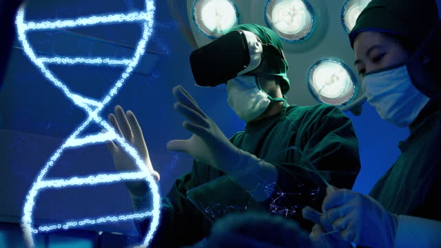 modern surgeon motion graphic hologram technology medical specialist operating room in hospital. - operating stock videos & royalty-free footage