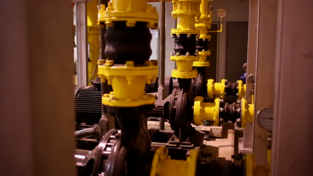 modern technological in industrial factory - gas pipe stock videos and b-roll footage