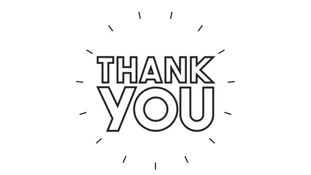 "moderne ""thank you"" line icon animation auf weißem hintergrund - animation moving image stock-videos und b-roll-filmmaterial"
