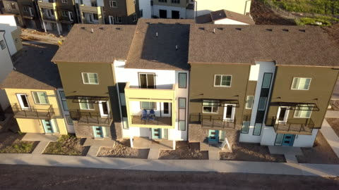 modern townhomes - townhouse stock videos & royalty-free footage
