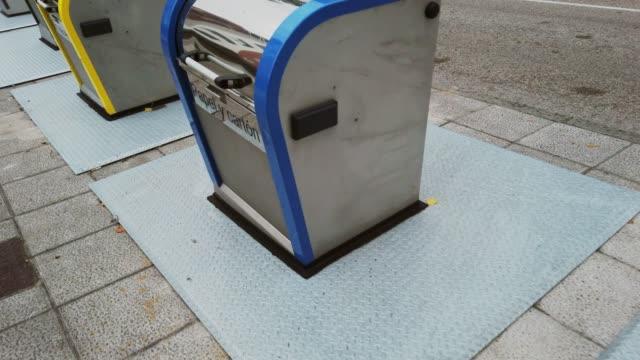 modern trash bins - bin stock videos & royalty-free footage