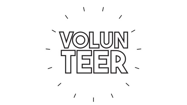 """modern """"volunteer"""" line icon animation on white background - computer icon stock videos & royalty-free footage"""