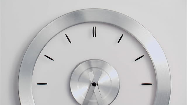 t/l, cu, modern wall clock - temporale video stock e b–roll