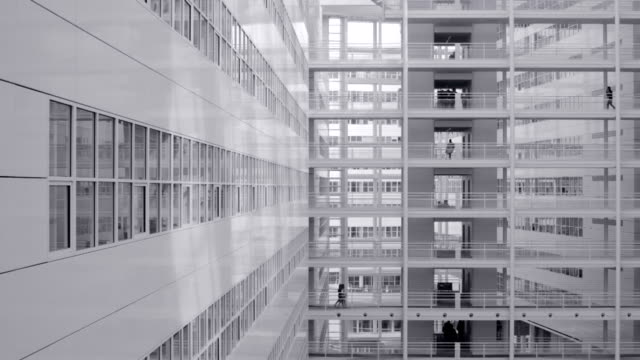 modern white architecture - the hague stock videos and b-roll footage