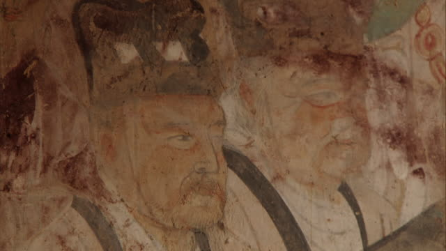 Mogao Caves Cave 220 Murals Closeup of a face