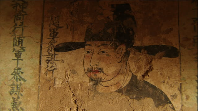 Mogao Caves Cave 220 Murals Images of men holding a servicefor a departed soul Zhai Fengda IX Close shot