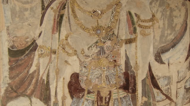 Mogao Caves South Ward The 57th Cave Murals Bodhisattva Accessories and crowns made of flour gold and lacquer