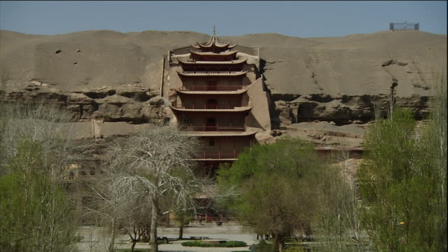 Mogao Caves Zooming out Long shot