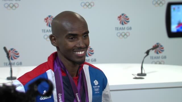 Mohamed Farah on looking forward to the birth of his twins at Team GB Medal Winners Press Conference Mo Farah Olympic Gold Medalist 5000M and 10000M...