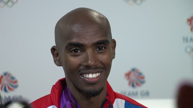 Mohamed Farah on what he listens to before a race Team GB Medal Winners Press Conference Mo Farah Olympic Gold Medalist 5000M and 10000M at Olympic...