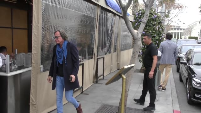Mohamed Hadid ignores questions about his lawsuit as he leaves Il Pastaio in Beverly Hills in Celebrity Sightings in Los Angeles