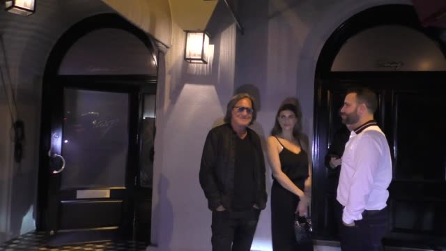 Mohamed Hadid Shiva Safai outside Craig's Restaurant in West Hollywood in Celebrity Sightings in Los Angeles
