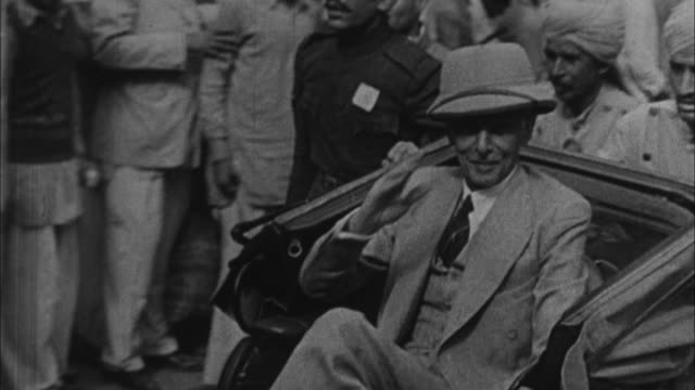 mohammad ali jinnah indian muslim leader riding rickshaw / india - 1947 stock videos & royalty-free footage