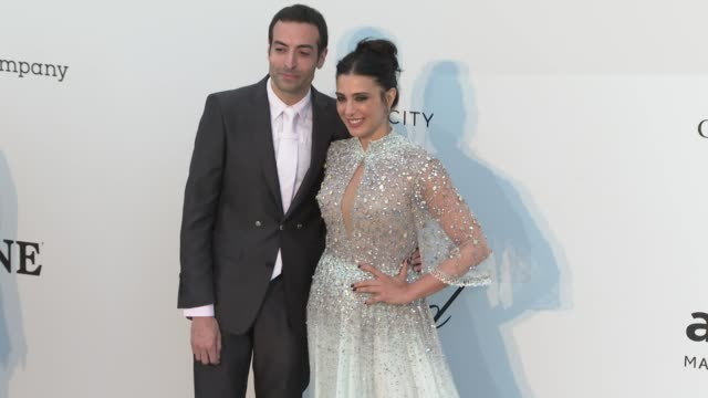 Mohammed Al Turki Nadine Labaki at amfAR Cannes Gala 2019 Arrivals on May 23 2019 in Cap d'Antibes France