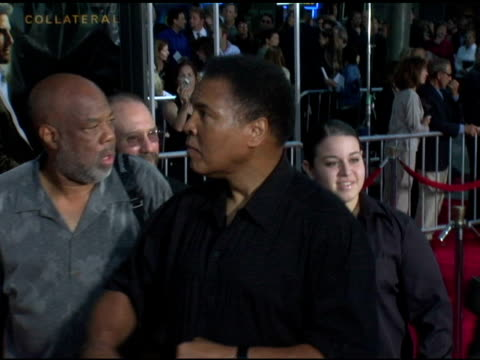 mohammed ali at the 'collateral' los angeles premiere at the orpheum theatre in los angeles, california on august 2, 2004. - orpheum theatre stock videos & royalty-free footage