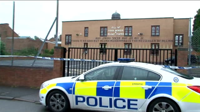 Pavlo Lapshyn jailed for 40 year minimum LIB Walsall Aisha Mosque PULL OUT to police van LIB Wolverhampton Wolverhampton central mosque with police...