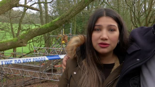 family visit woods where body discovered england buckinghamshire gerrards cross ext iqra subhani interview alongside father sot distraught family of... - parent stock videos & royalty-free footage