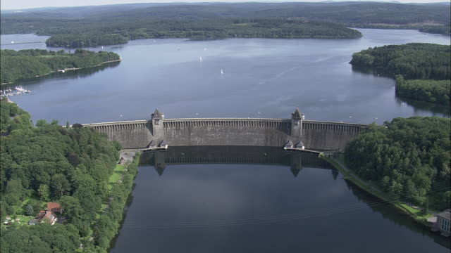 mohne dam - reservoir stock videos and b-roll footage