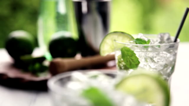 mojito - crushed ice stock videos & royalty-free footage