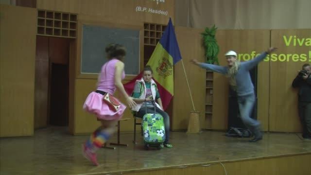 moldavia es uno de los principales paises de origen para la trata de personas en europa voiced teatro contra la trata en moldavia on december 28 2013... - moldova stock videos and b-roll footage