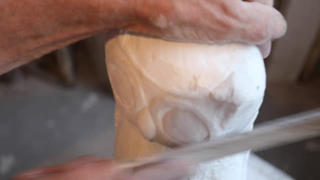 molding a shape - stone object stock videos & royalty-free footage