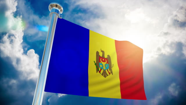 4k - moldova flag | loopable stock video - all european flags stock videos and b-roll footage