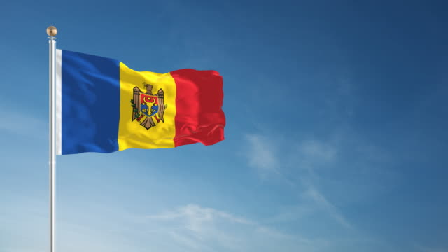 4k moldova flag - loopable - intricacy stock videos & royalty-free footage