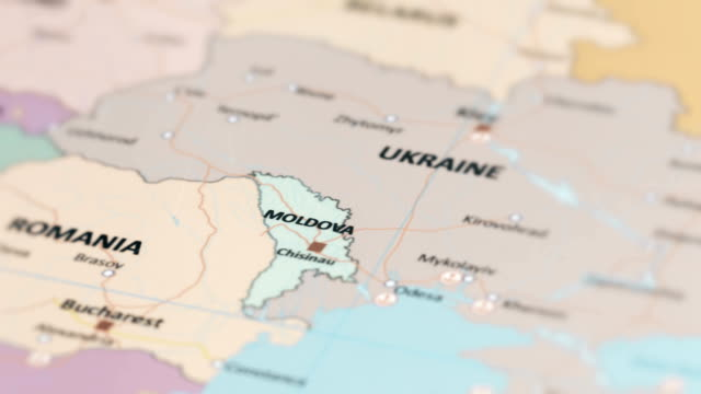 europe moldova on world map - moldova stock videos and b-roll footage
