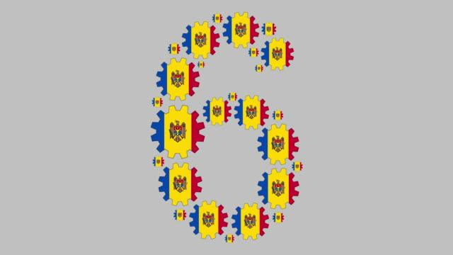 stockvideo's en b-roll-footage met moldavische nummer zes - getal 6