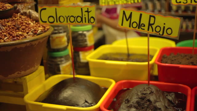 mole traditional food sauce in mexico - mexican culture stock videos & royalty-free footage