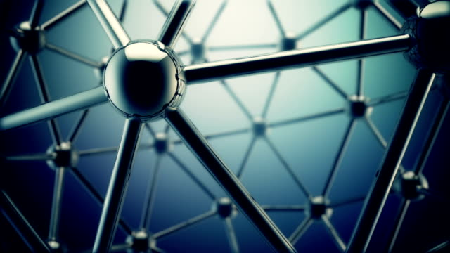 molecular background blue - atom stock videos & royalty-free footage