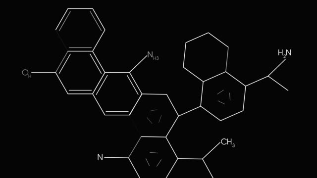 molecular structure illustration and interface codes stock video - chemical formula stock videos & royalty-free footage