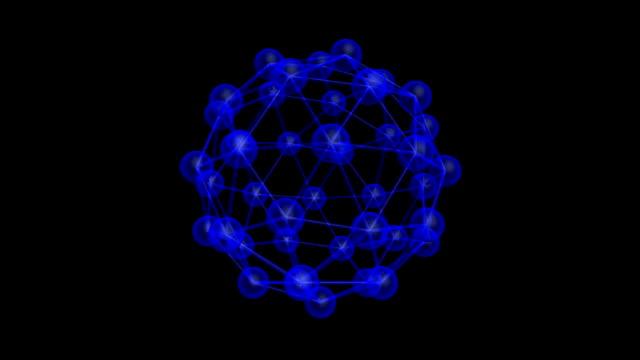 分子構造 - high scale magnification点の映像素材/bロール