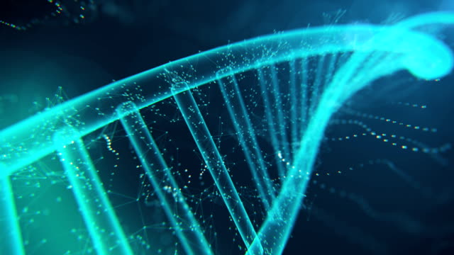 stockvideo's en b-roll-footage met dna-molecule 4k - dna