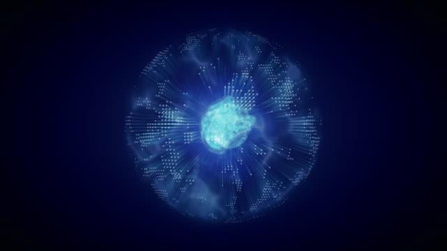 vidéos et rushes de molécule - cellule d'énergie cellule - cellule virus - atom avec boucle infinie - microscope